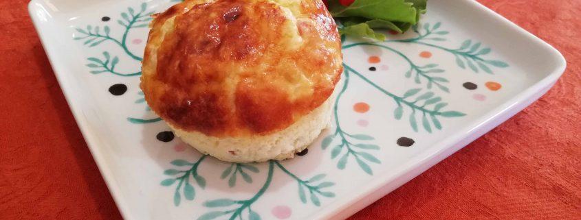 Muffin de apio y carbonara