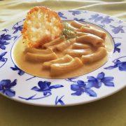 Tortiglioni con salsa de hinojo