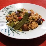 Arroz con tirabeques