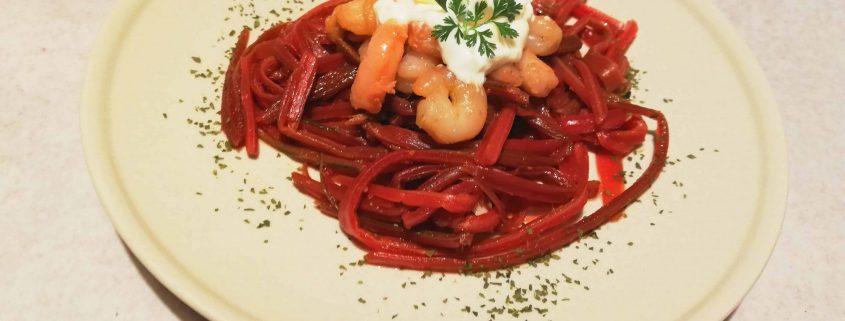 Espaguettis de acelgas